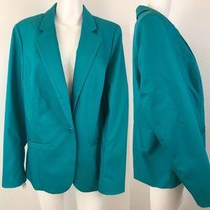 Lane Bryant Blazer Jacket Teal Turquoise Career